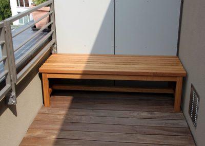 Balkonbank aus Eiche geölt